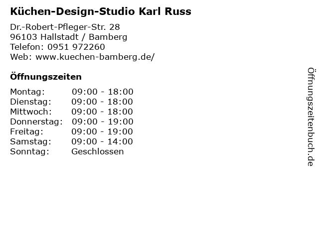 ᐅ Offnungszeiten Kuchen Design Studio Karl Russ Dr Robert
