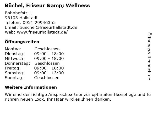 Büchel, Friseur & Wellness in Hallstadt: Adresse und Öffnungszeiten