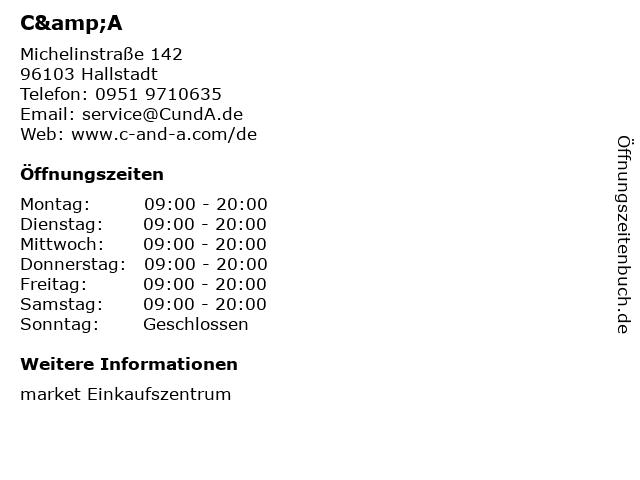 C&A Mode GmbH & Co. KG in Hallstadt: Adresse und Öffnungszeiten
