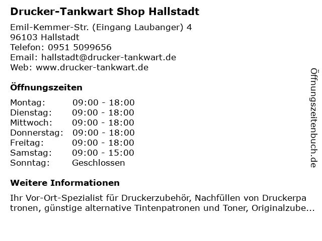 Drucker-Tankwart Shop Hallstadt in Hallstadt: Adresse und Öffnungszeiten