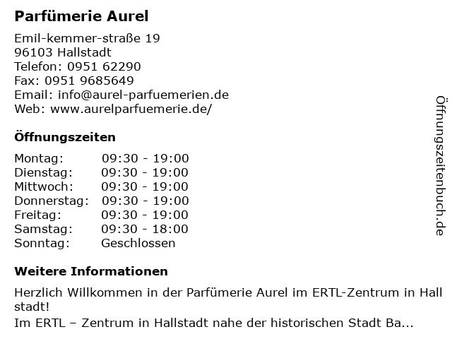 Parfümerie Aurel Franz Otto GmbH & Co. KG in Hallstadt: Adresse und Öffnungszeiten