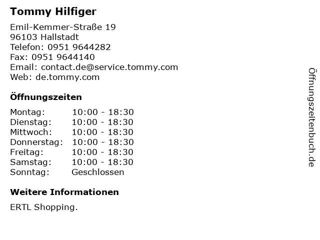 Tommy Hilfiger in Hallstadt: Adresse und Öffnungszeiten