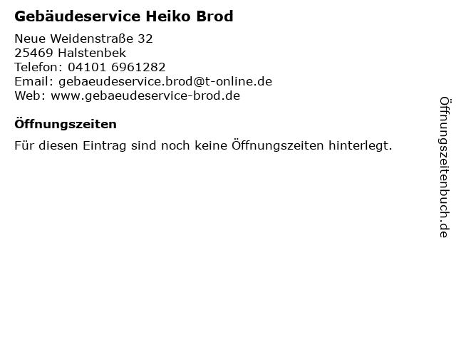 Gebäudeservice Heiko Brod in Halstenbek: Adresse und Öffnungszeiten