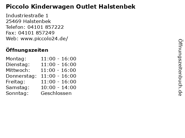 """ᐅ Öffnungszeiten """"Piccolo Kinderwagen Outlet Halstenbek ..."""