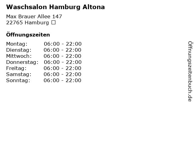 Waschsalon Hamburg Altona in Hamburg : Adresse und Öffnungszeiten