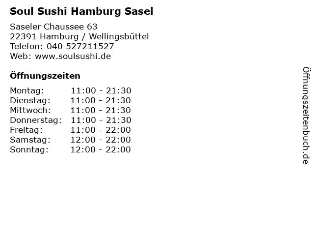 Soul Sushi Hamburg Sasel in Hamburg / Wellingsbüttel: Adresse und Öffnungszeiten