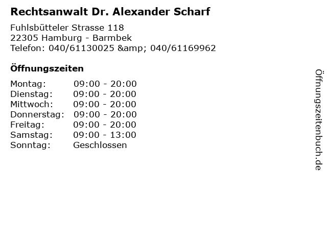 ᐅ öffnungszeiten Rechtsanwalt Dr Alexander Scharf