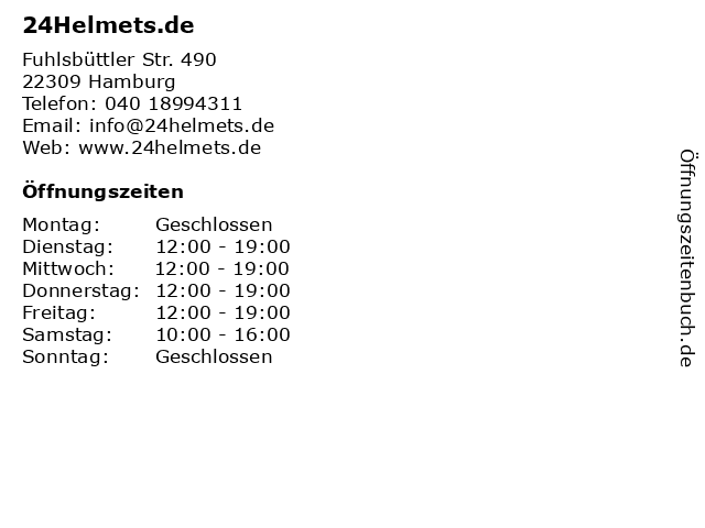 24Helmets.de in Hamburg: Adresse und Öffnungszeiten