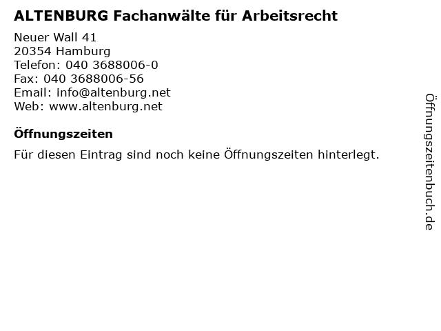 ᐅ öffnungszeiten Altenburg Fachanwälte Für Arbeitsrecht Neuer
