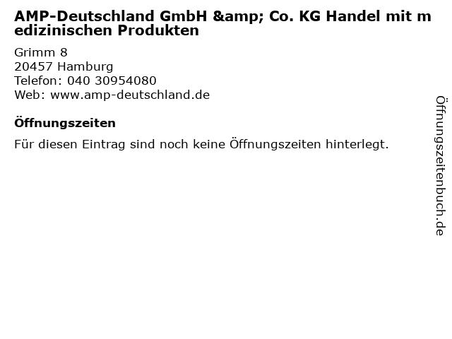 AMP-Deutschland GmbH & Co. KG Handel mit medizinischen Produkten in Hamburg: Adresse und Öffnungszeiten