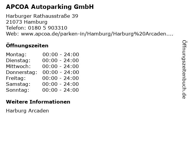 APCOA Autoparking GmbH in Hamburg: Adresse und Öffnungszeiten