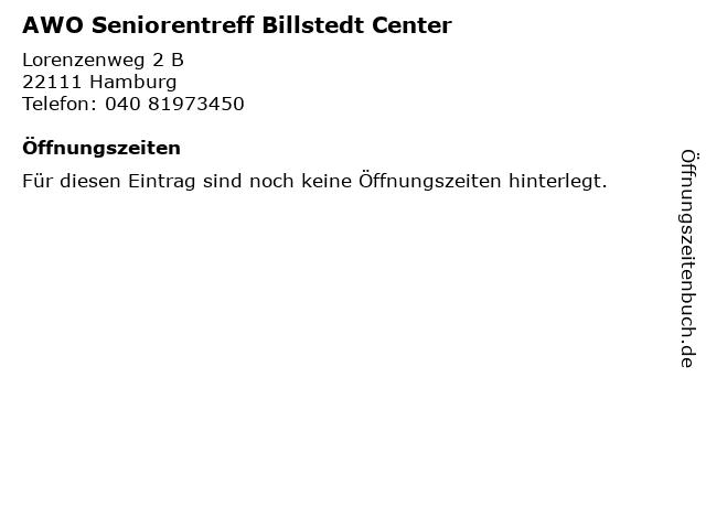 AWO Seniorentreff Billstedt Center in Hamburg: Adresse und Öffnungszeiten
