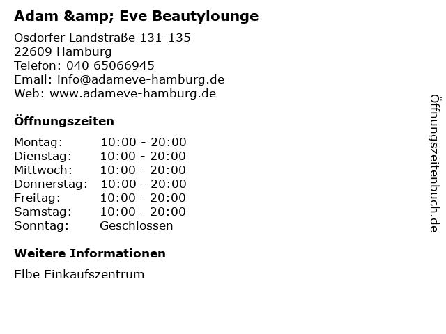 Adam & Eve Beautylounge in Hamburg: Adresse und Öffnungszeiten