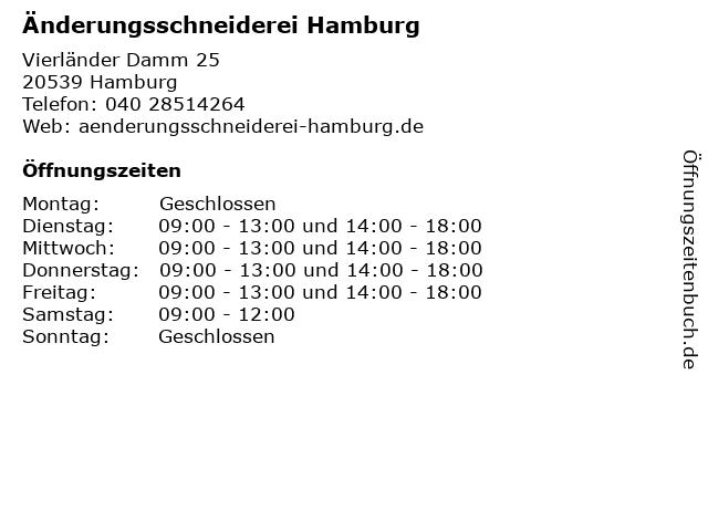 Änderungsschneiderei Hamburg in Hamburg: Adresse und Öffnungszeiten