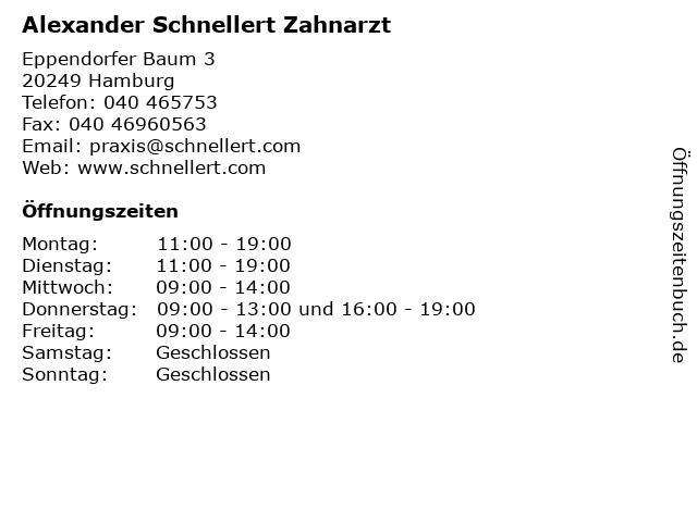 Alexander Schnellert Zahnarzt in Hamburg: Adresse und Öffnungszeiten