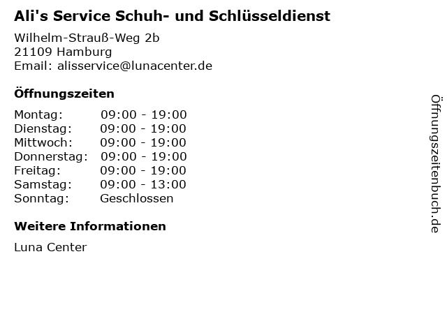 Ali's Service Schuh- und Schlüsseldienst in Hamburg: Adresse und Öffnungszeiten