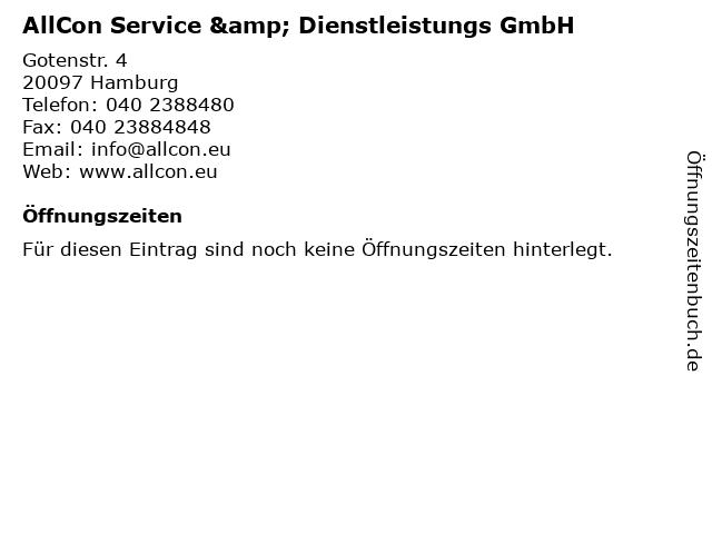 AllCon Service & Dienstleistungs GmbH in Hamburg: Adresse und Öffnungszeiten