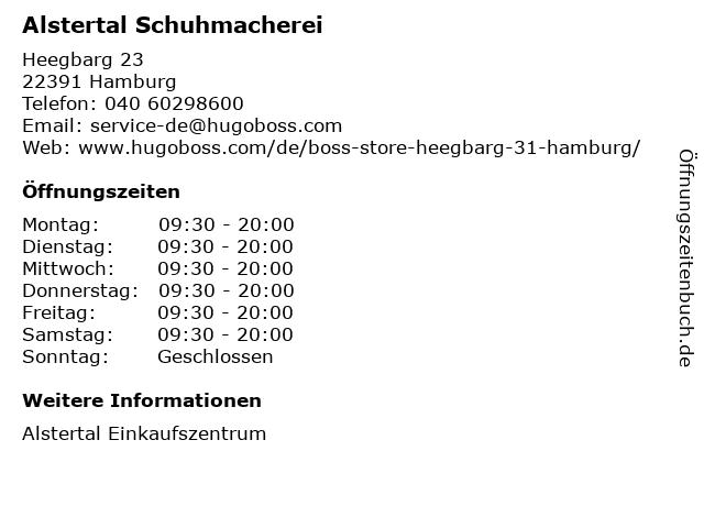 Alstertal Schuhmacherei - BOSS Store in Hamburg: Adresse und Öffnungszeiten