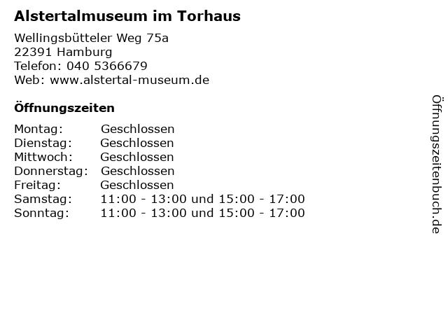 Alstertalmuseum im Torhaus in Hamburg: Adresse und Öffnungszeiten