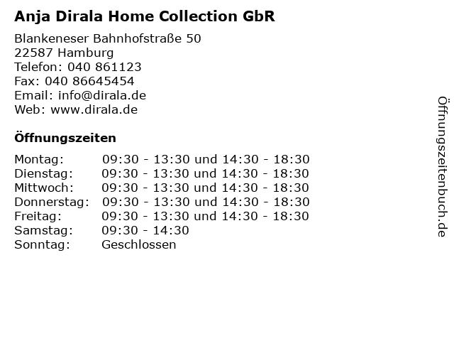 Anja Dirala Home Collection GbR in Hamburg: Adresse und Öffnungszeiten