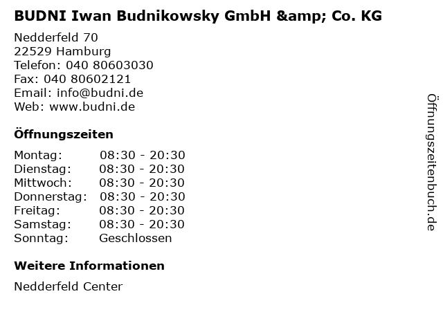 BUDNI Iwan Budnikowsky GmbH & Co. KG in Hamburg: Adresse und Öffnungszeiten