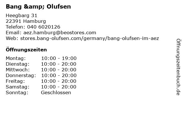 Bang & Olufsen in Hamburg: Adresse und Öffnungszeiten