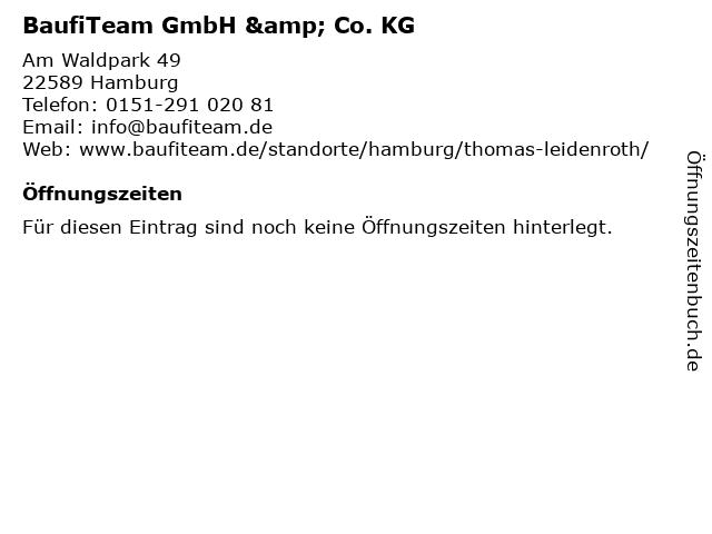 BaufiTeam GmbH & Co. KG in Hamburg: Adresse und Öffnungszeiten