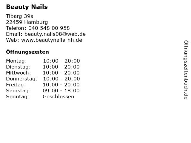 Beauty Nails in Hamburg: Adresse und Öffnungszeiten