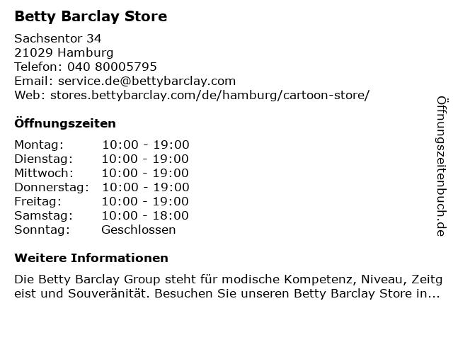 Betty Barclay Store in Hamburg: Adresse und Öffnungszeiten