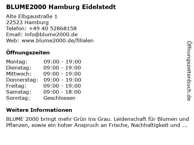 Blume 2000 in Hamburg: Adresse und Öffnungszeiten
