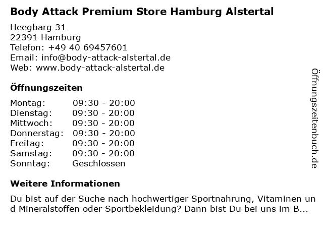 Body Attack Premium Store Hamburg Alstertal in Hamburg: Adresse und Öffnungszeiten