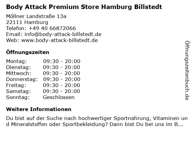 Body Attack Premium Store Hamburg Billstedt in Hamburg: Adresse und Öffnungszeiten