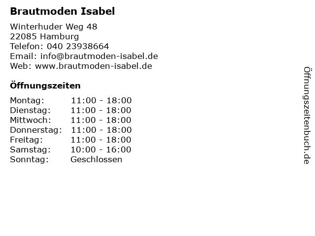 ᐅ Offnungszeiten Brautmoden Isabel Winterhuder Weg 48 In Hamburg