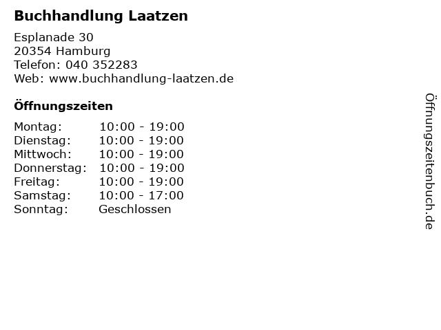 Buchhandlung Laatzen in Hamburg: Adresse und Öffnungszeiten