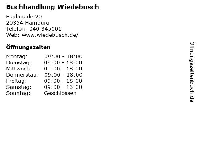 Buchhandlung Wiedebusch in Hamburg: Adresse und Öffnungszeiten
