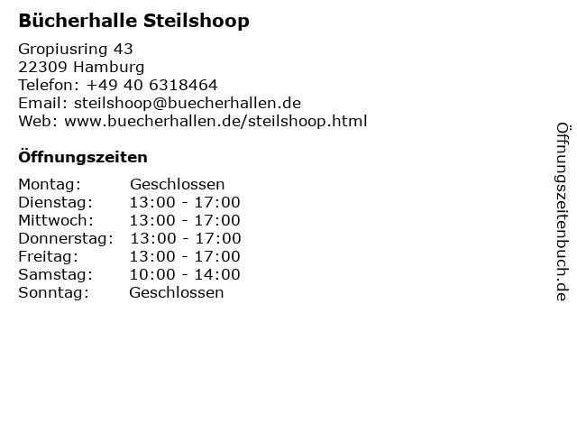 Bücherhalle Steilshoop in Hamburg: Adresse und Öffnungszeiten