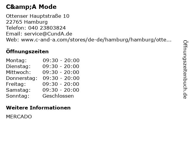C&A Mode GmbH & Co. KG in Hamburg: Adresse und Öffnungszeiten