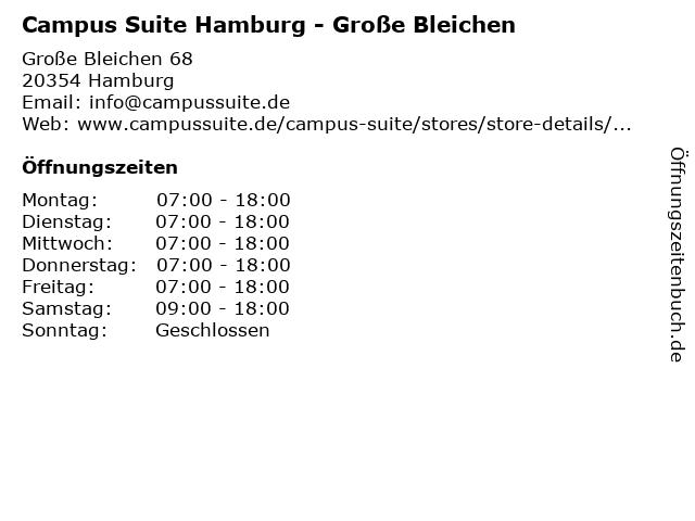 Campus Suite Hamburg - Große Bleichen in Hamburg: Adresse und Öffnungszeiten