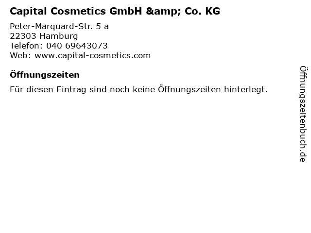 Capital Cosmetics GmbH & Co. KG in Hamburg: Adresse und Öffnungszeiten