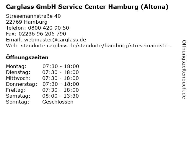 Carglass GmbH Service Center Hamburg (Altona) in Hamburg: Adresse und Öffnungszeiten