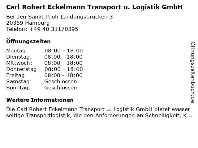 Carl Robert Eckelmann Transport u. Logistik GmbH in Hamburg: Adresse und Öffnungszeiten
