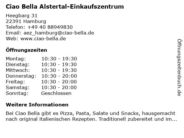 ciao bella AEZ in Hamburg: Adresse und Öffnungszeiten