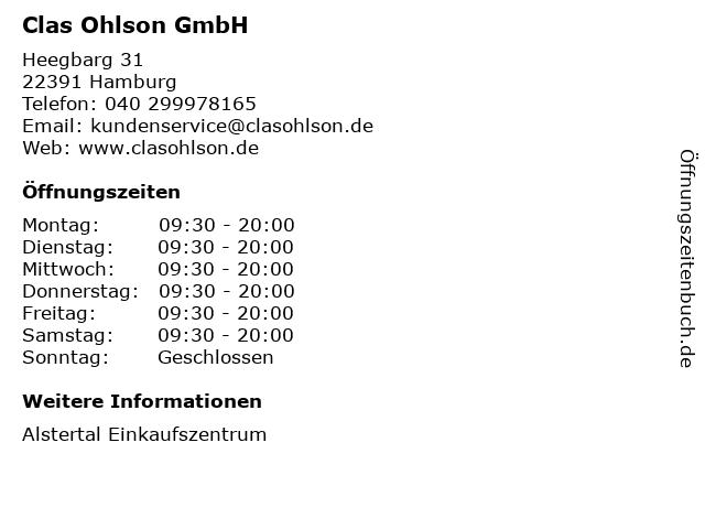 Clas Ohlson GmbH in Hamburg: Adresse und Öffnungszeiten