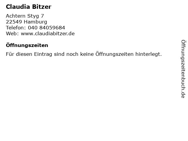 Claudia Bitzer in Hamburg: Adresse und Öffnungszeiten