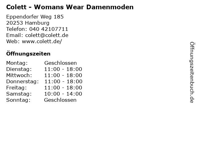 Colett - Womans Wear Damenmoden in Hamburg: Adresse und Öffnungszeiten