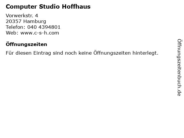 Computer Studio Hoffhaus in Hamburg: Adresse und Öffnungszeiten