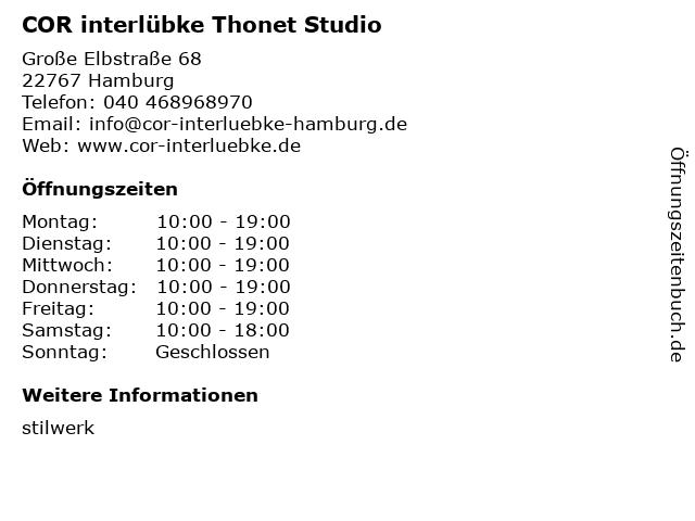 ᐅ öffnungszeiten Cor Interlübke Studio Im Stilwerk Große