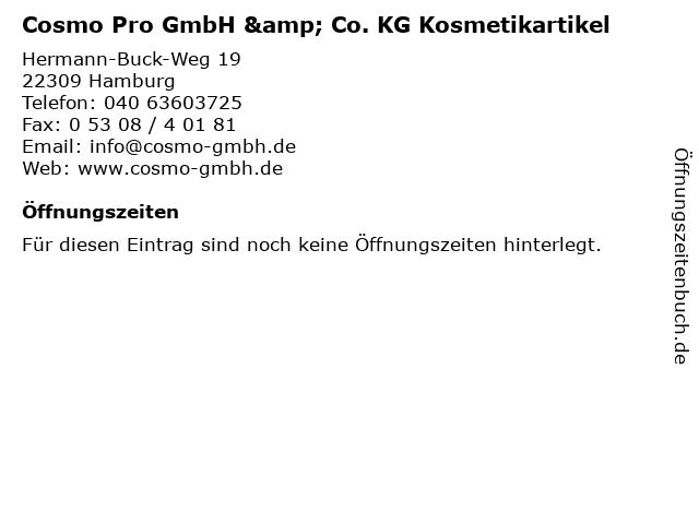 Cosmo Pro GmbH & Co. KG Kosmetikartikel in Hamburg: Adresse und Öffnungszeiten