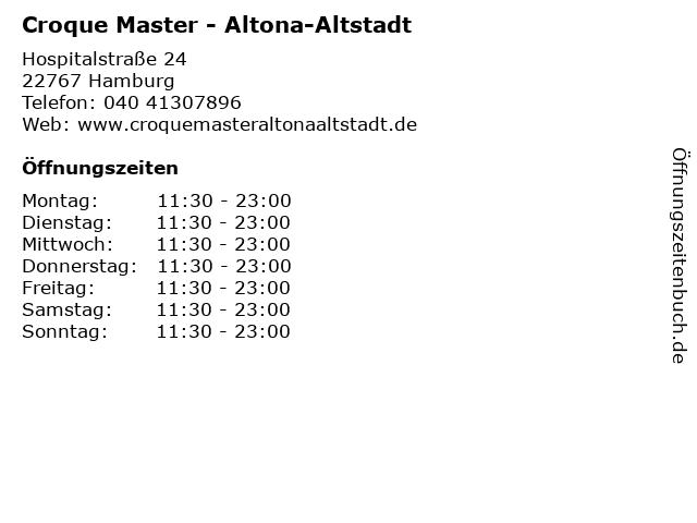 Croque Master - Altona-Altstadt in Hamburg: Adresse und Öffnungszeiten
