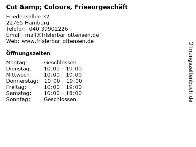 Cut & Colours, Friseurgeschäft in Hamburg: Adresse und Öffnungszeiten